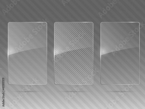 Fototapeta Glass framework set. Vector illustration.