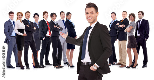 Successful happy business team