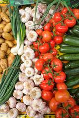 étalage fruit et légume du marché