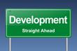 development traffic sign