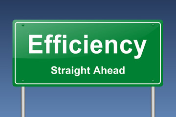 efficiency traffic sign
