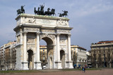 Arch of Peace in Sempione Park, Milan