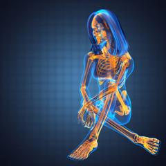 cute woman radiography