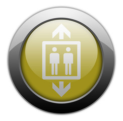 "Yellow Metallic Orb Button ""Elevator / Lift"""