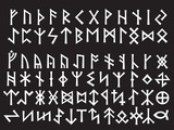 Silver Runic Script of Northern Europe poster