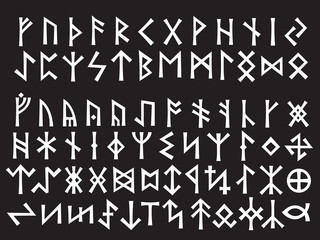 Silver Runic Script of Northern Europe