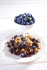 Granola with blueberry