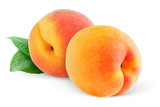 Fototapety Peaches (or apricots) isolated on white