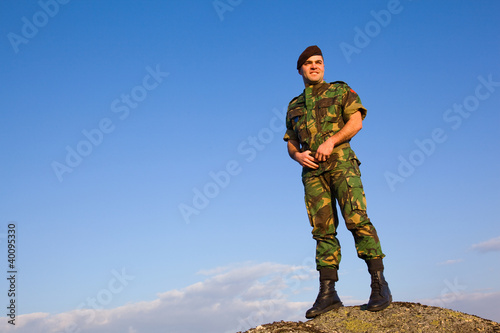 Military in the top of a mountain