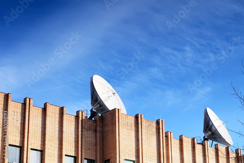 Satellite Dish on roof.