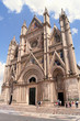 Ornate facade of the Orvieto Duomo, Italy