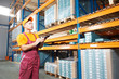 manual worker inspector in warehouse