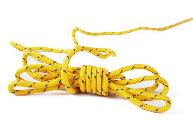 yellow rope isolated
