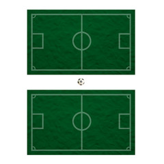 Plasticine Football on grass and  board background
