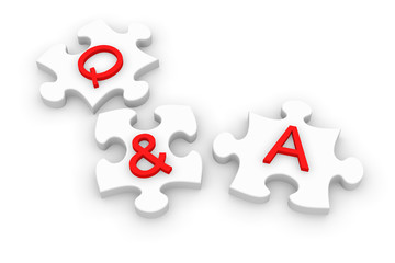 Q and A jigsaw puzzle
