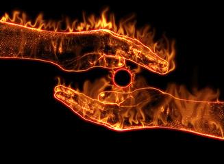 Mains en feu