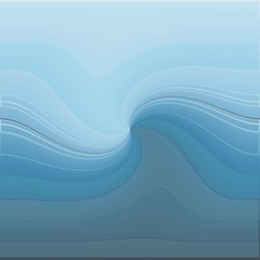 Abstract art, blue ocean