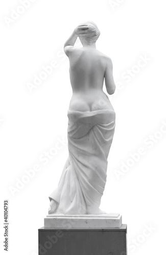 Leinwanddruck Bild Statue of a woman look back.