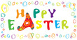 Happy Easter horizontal banner