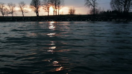 Abendrot im Wasser
