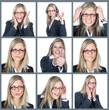Emotionen einer Geschäftsfrau Collage