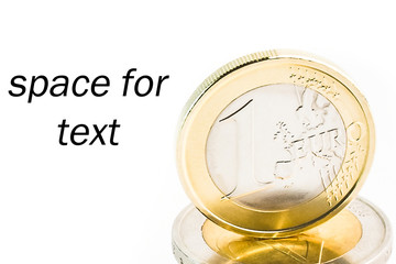 pile of euro on white background