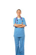 A full-length portrait of a nurse