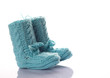 gestrickte Babyschuhe - hell blau