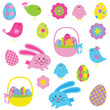 Easter Elements Vector Collection