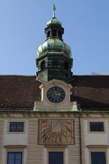 Vienna tower and sundial