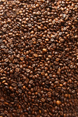 Coffe grains - view above
