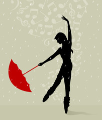 Dance with an umbrella