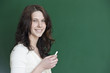 Nettes lächeln von einer Lehrerin.