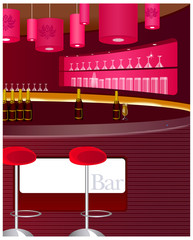 View of bar counter