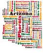word cloud map of Arizona state