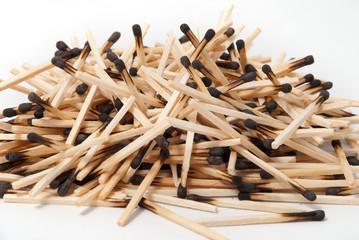 Heap of burnt matches