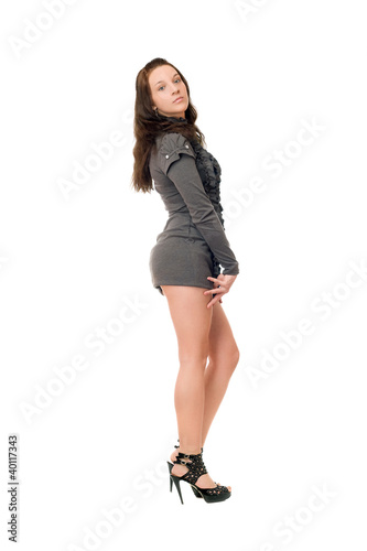 Sexual brunette girl in full length