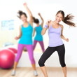 Fitness dance studio zumba class