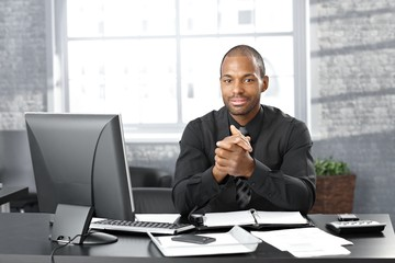 Businessman at office desk