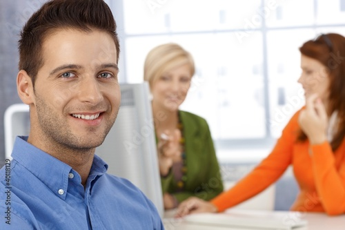 Happy office portrait