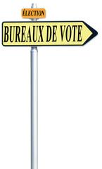 panneau élection, bureaux de vote