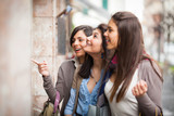 Three Beautiful Young Women doing Shopping - Fine Art prints