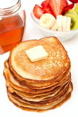 golden buttermilk pancakes