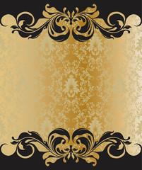 Elegant vintage damask wedding invitation