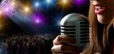 Fototapety Singer and concert