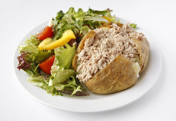 Tuna mayo Jacket Potato with side salad