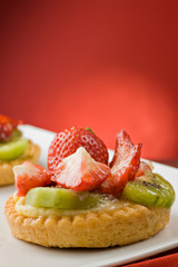 Small sweet fruit tarts