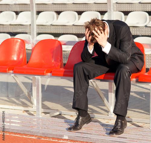 Verzweiflung auf der Trainerbank