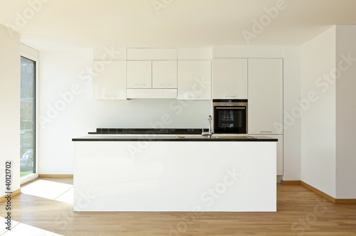 beautiful new  apartment, interior, kitchen.