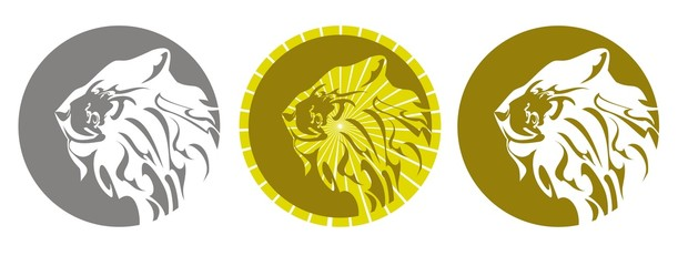 Lion emblem. Three variants